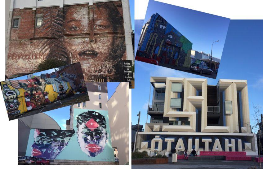 クライストチャーチの観光スポット 街中で見かけるストリートアート編&地図