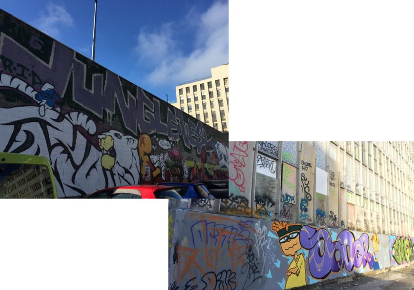 クライストチャーチの観光スポット 街中で見かけるストリートアート編