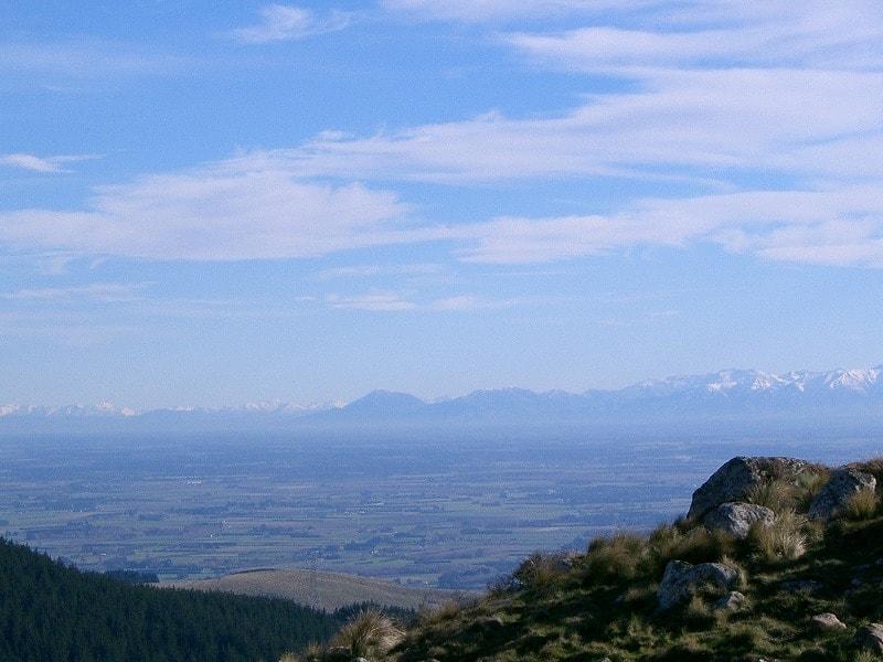 山からみたカンタベリー平野